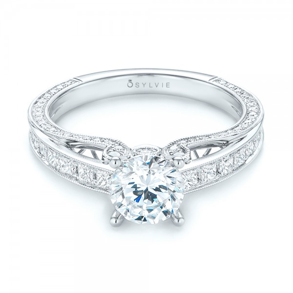Women's Diamond Engagement Ring - Laying View