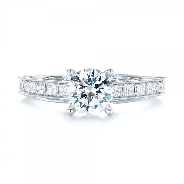 Women's Diamond Engagement Ring - Top View