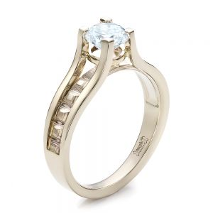 Women's Mokume Engagement Ring - Image