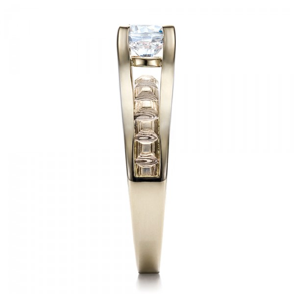 Women's Mokume Engagement Ring - Side View