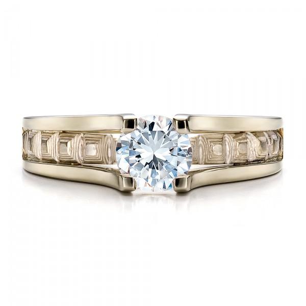 Women's Mokume Engagement Ring - Top View