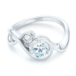 Wrap Diamond Engagement Ring