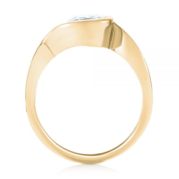 14k Yellow Gold 14k Yellow Gold Wrap Diamond Engagement Ring - Front View -