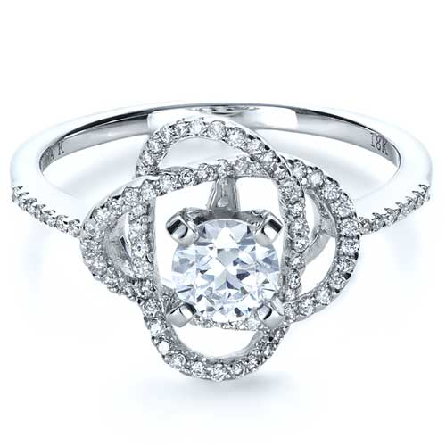 Wrapped Diamond Engagement Ring - Vanna K