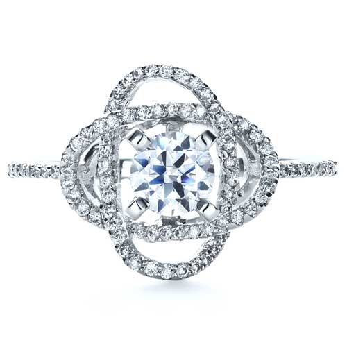 Wrapped Diamond Engagement Ring - Vanna K - Top View
