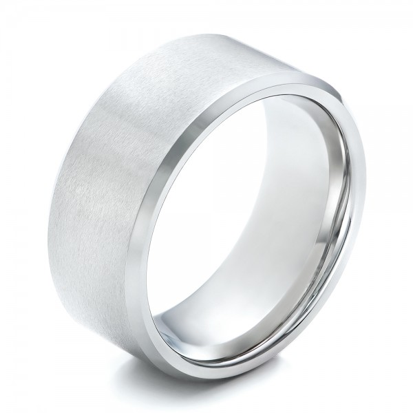 Men's White Tungsten Satin Finish Band