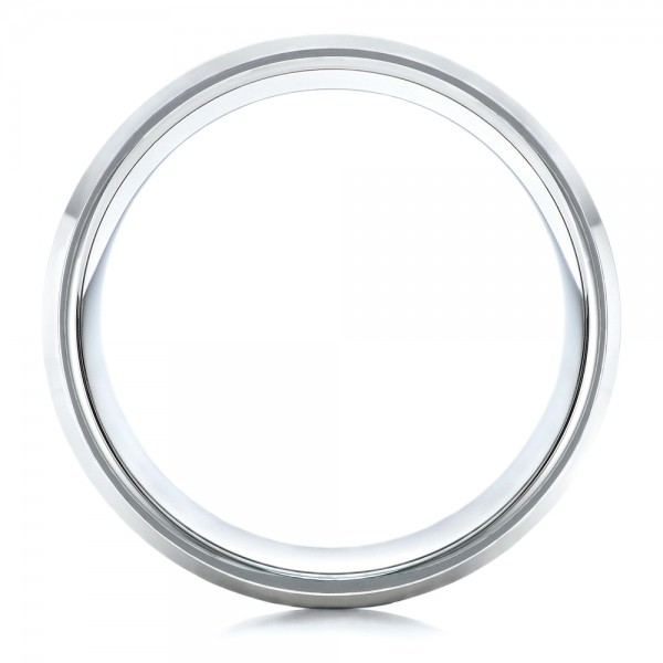 Men's White Tungsten Satin Finish Band - Front View -