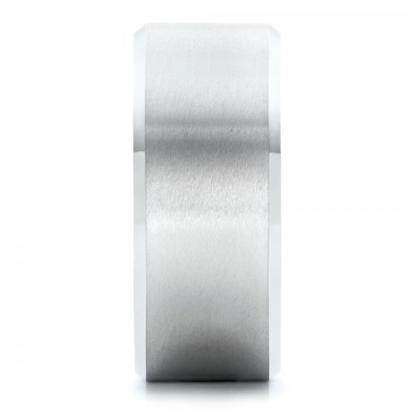 Men's White Tungsten Satin Finish Band - Side View -