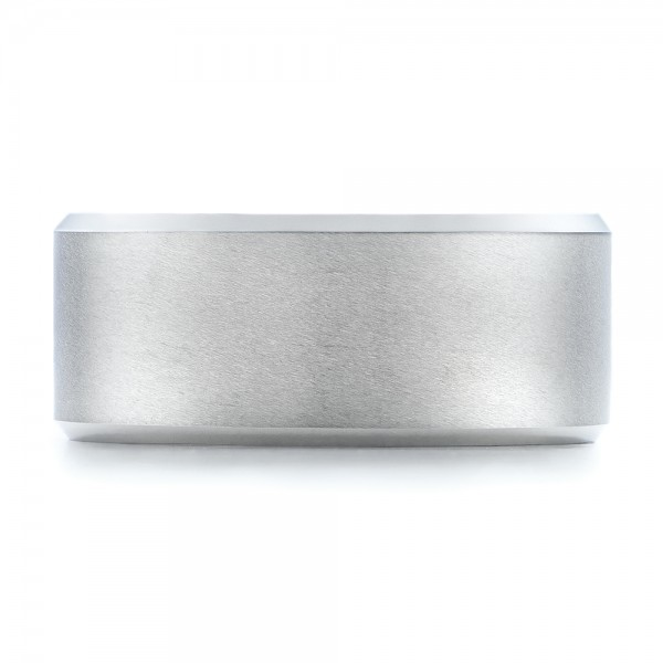 Men's White Tungsten Satin Finish Band - Top View -