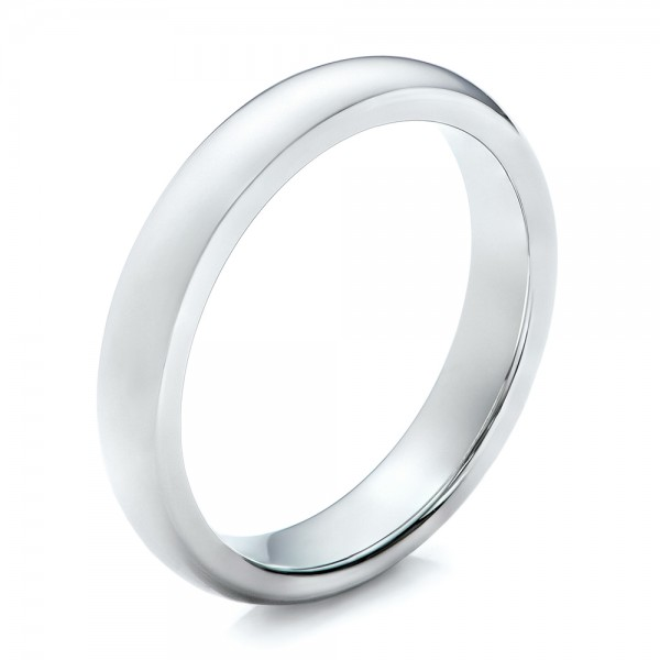 4MM White Tungsten Carbide Bright Polish Domed Comfort Fit Band - Image