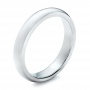 4mm White Tungsten Carbide Bright Polish Domed Comfort Fit Band - Three-Quarter View -  101195 - Thumbnail