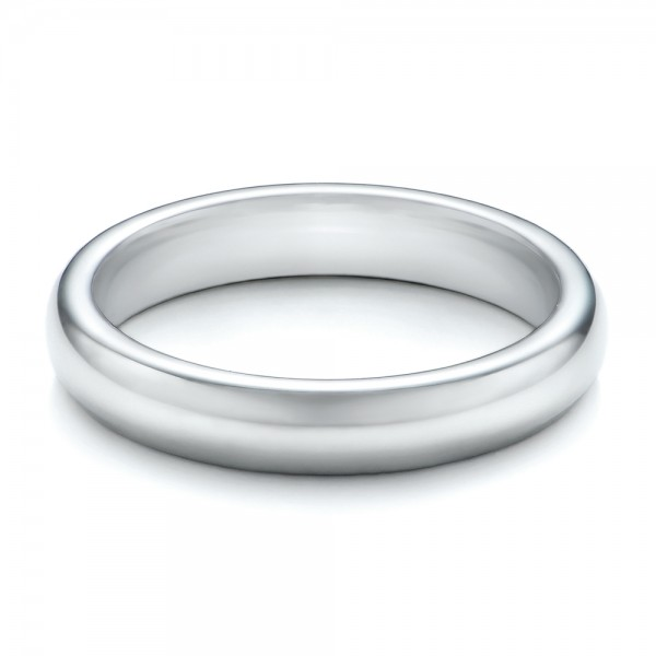 4MM White Tungsten Carbide Bright Polish Domed Comfort Fit Band
