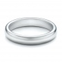 4mm White Tungsten Carbide Bright Polish Domed Comfort Fit Band - Flat View -  101195 - Thumbnail