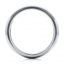 4mm White Tungsten Carbide Bright Polish Domed Comfort Fit Band - Front View -  101195 - Thumbnail