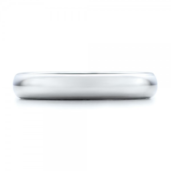 4MM White Tungsten Carbide Bright Polish Domed Comfort Fit Band - Top View -  101195 - Thumbnail