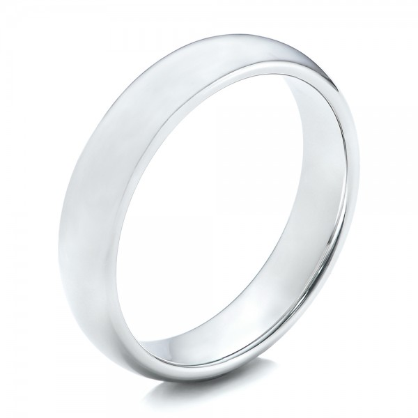 Men's Polished Domed White Tungsten Band - Image
