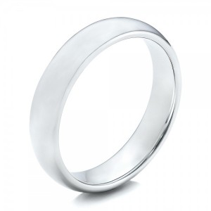 Men's Polished Domed White Tungsten Band