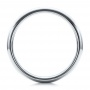 Men's Polished Domed White Tungsten Band - Front View -  101194 - Thumbnail