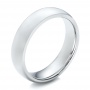 Men's Polished Domed White Tungsten Band - Three-Quarter View -  101193 - Thumbnail