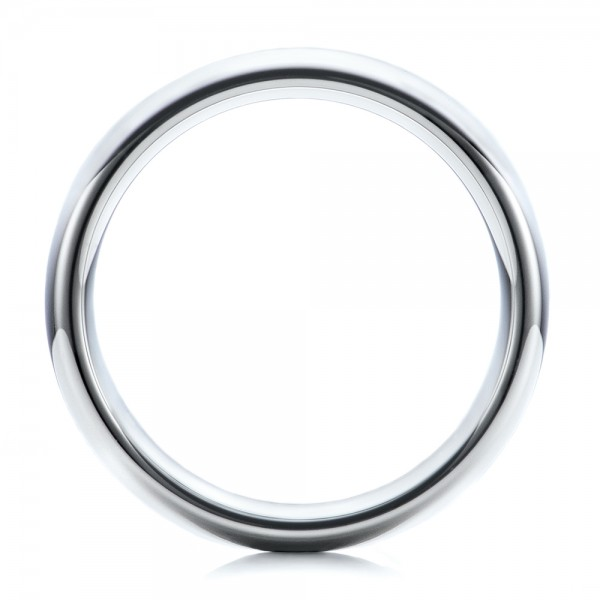 Men's Polished Domed White Tungsten Band - Front View -  101193 - Thumbnail