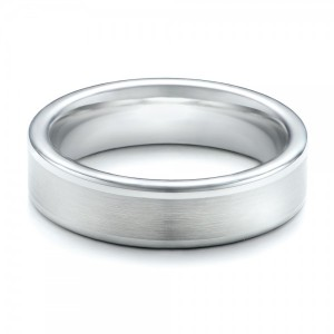 Men's Satin Finish White Tungsten Band