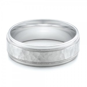 Men's Hammered Finish Palladium Band