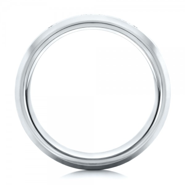 Men's Satin Finish Tungsten Band - Front View -  101188 - Thumbnail