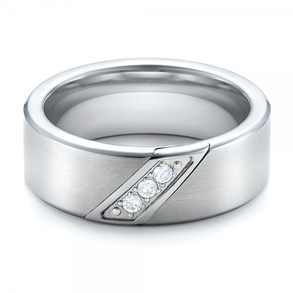 Men's Brushed Finish Tungsten Band