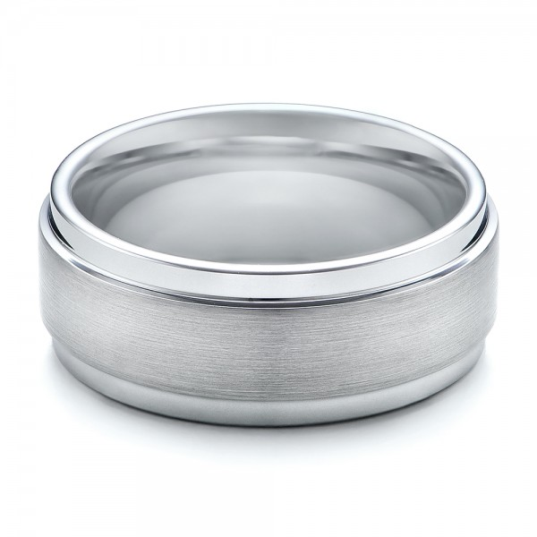 Men's Brushed Finish Tungsten Band - Flat View -