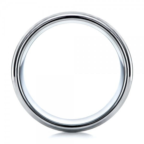 Men's Brushed Finish Tungsten Band - Front View -