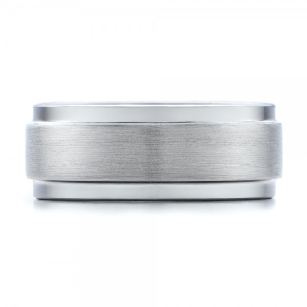 Men's Brushed Finish Tungsten Band - Top View -