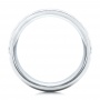 Men's Florentine Finish White Tungsten Band - Front View -  101204 - Thumbnail