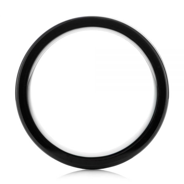 Black Tungsten Ring - Front View -  104020
