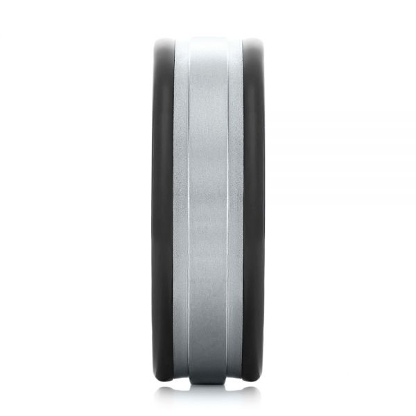 Black Tungsten Ring - Side View -  104020