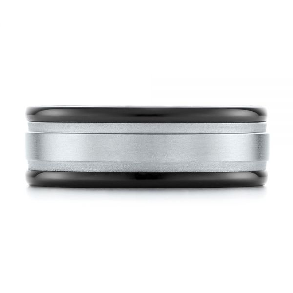 Black Tungsten Ring - Top View -  104020