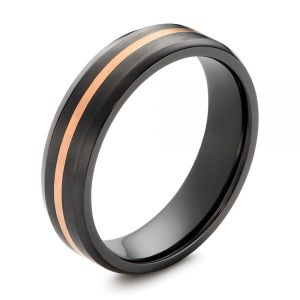 Black Zirconium Men's Wedding Ring - Image