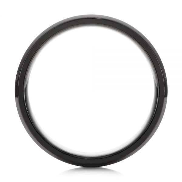 Black Zirconium Men's Wedding Ring - Front View -  105890