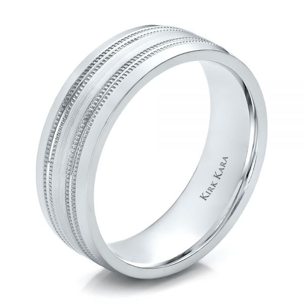 Brushed Finish Men's Wedding Band - Kirk Kara - Image