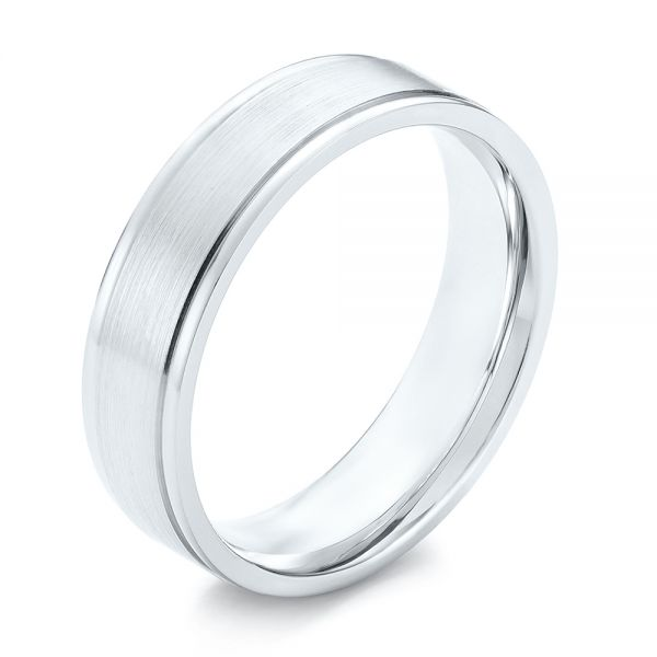 Brushed Men's Wedding Band - Image