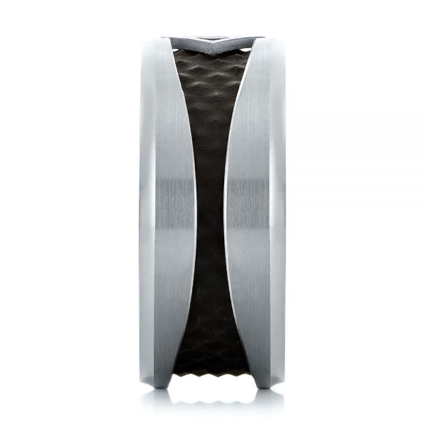 Carbon Fiber Inlay Wedding Band - Side View -