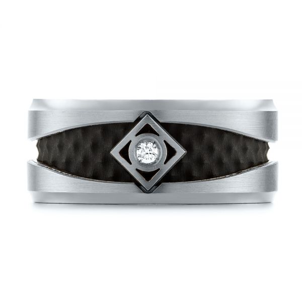 Carbon Fiber Inlay Wedding Band - Top View -
