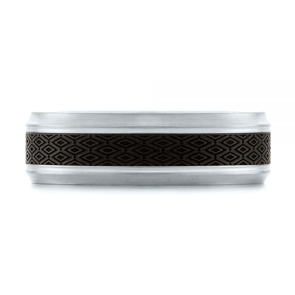 Carbon Fiber Inlay Wedding Band - Top View -  103850