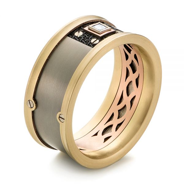Carbon Fiber Men's Wedding Ring - Image