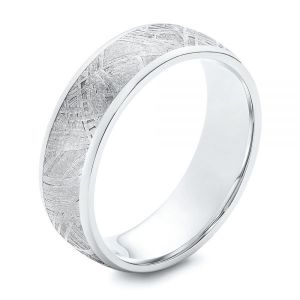 Cobalt Meteorite Men's Wedding Band - Image