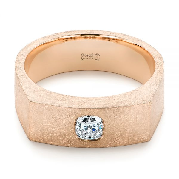 Cushion Cut Diamond Men's Band