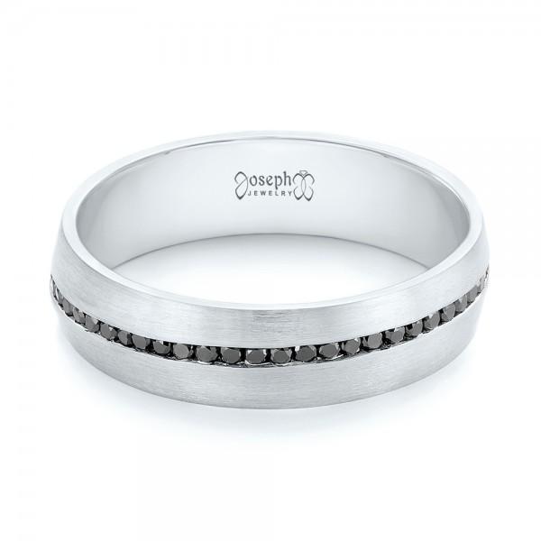 Custom Black Diamond Mens Wedding Band 103036