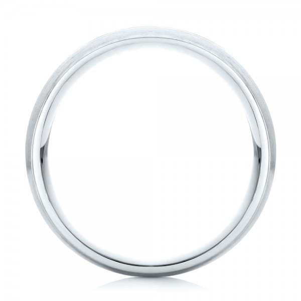 Custom Black Diamond Men's Wedding Band - Finger Through View