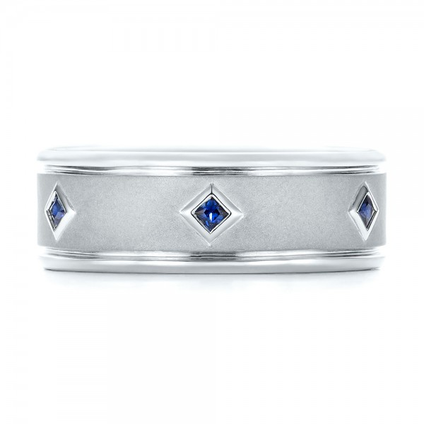 Custom Blue Sapphire Men S Wedding Band 103143 Seattle Bellevue