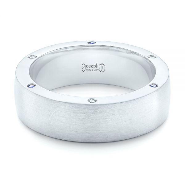 Custom Blue Sapphire And Diamond Men S Wedding Band 102779 Seattle Bellevue Joseph Jewelry