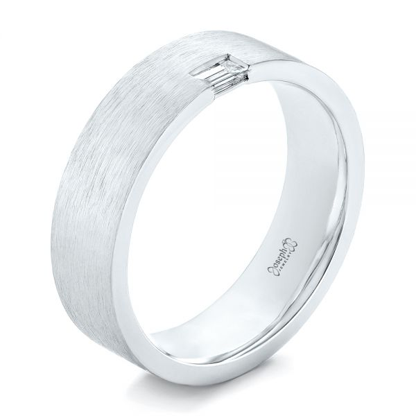 Custom Brushed Diamond Men's Band - Image